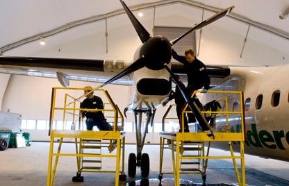 Inside Aircraft Hangar 416px